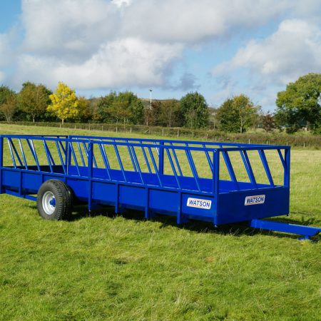 Livestock feed trailers
